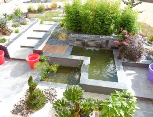 Bassin d'agrément et jardin japonais